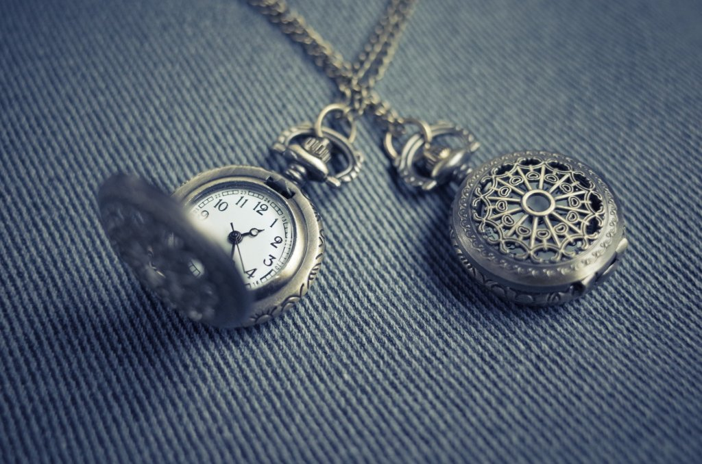 silver watch pendant