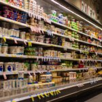 grocery aisle with food